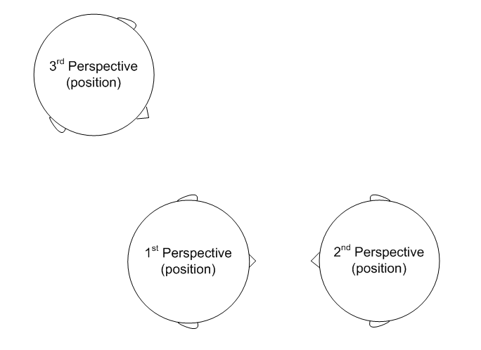 Three 3 perceptual positions diagram